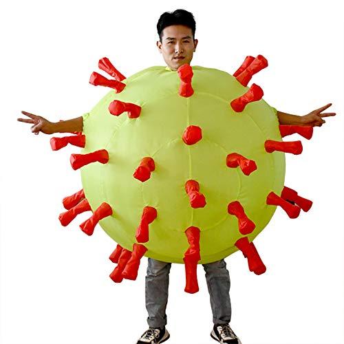 Opblaasbare Costume, Novelty Funny Air Blow up Suit, verkleedkleren voor Halloween Costume,Yellow,one