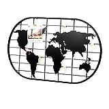 IMIKEYA Pantalla de Pared Cuadrícula Panel de Panel de Cuadrícula Foto Foto Pantalla Alambre de Cuadrícula Organizador de Pared Estante de Hierro para Postales Foto Foto Artesanía