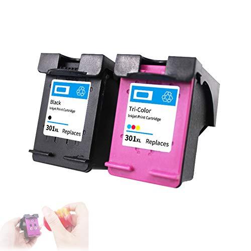 Cartuchos de Impresora de InyeccióN de Tinta,Cartuchos Tricolor Negros para HP301XL,con Recargable,Fuerte Compatibilidad y Practicabilidad Fuerte,Black&Color