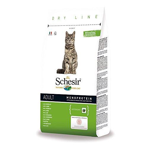 Schesir Cat Adult Maintenance Lamm, Katzenfutter trocken für Erwachsene Katzen, Trockenfutter im Beutel, 1er Pack (1 x 400 g)