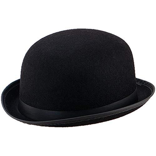 Spassprofi Spassprofi Melone schwarzer Bowler Hut für Hochzeiten Reiterhut Butlerkostüme Karnevalshut