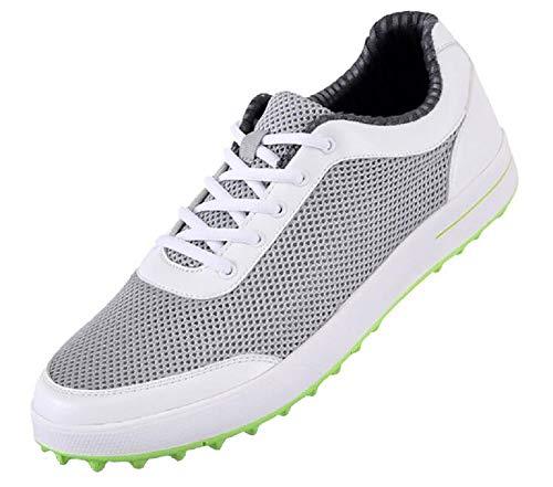 SHOPPRO PGM-XZ079 Atmungsaktive Netz-Golfschuhe ohne Spikes für Herren, hellgrau, Grau - hellgrau - Größe: 41 1/3 EU