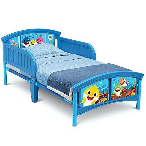 baby relax boy beds Delta Children Plastic Toddler Bed, Baby Shark