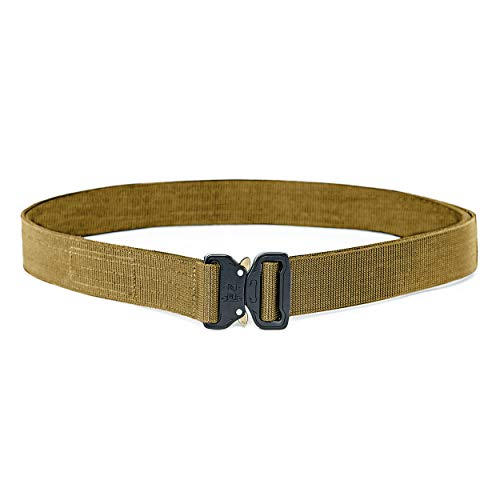 """WOLF TACTICAL Heavy Duty Quick-Release EDC Belt - Stiffened 2-Ply 1.5"""" Nylon Gun Belt for Concealed Carry, Holsters, Pouches, Military Training"""