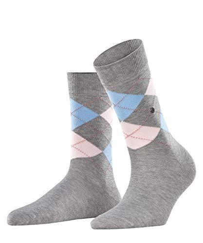 BURLINGTON Damen Socken Covent Garden - 80prozent Baumwolle, 1 Paar, Grau (Anthracite 3629), Größe: 36-41