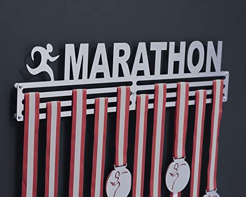 Medallero Rack de Maratón (Marathon) – Acero Inoxidable - Porta medallas para Corredor - Running Medal Display Holder