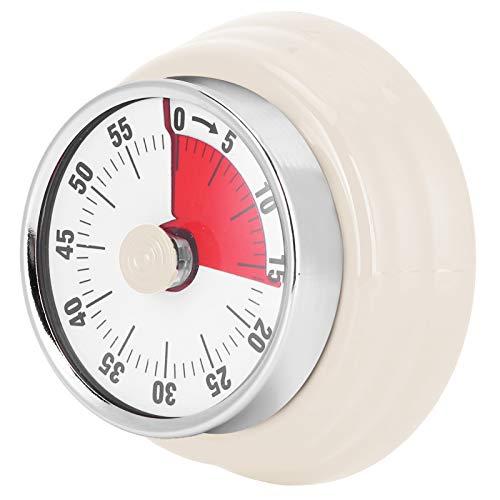 KIKYO Temporizador, Temporizador magnético de Cocina, Temporizador magnético para Cocina(Visual Timer: White (no Logo))
