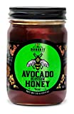 Donoxti Pure Raw Avocado Blossom Unfiltered and Unpasteurized Natural Gourmet Honey, Kosher Certified, 16 Ounce Jar