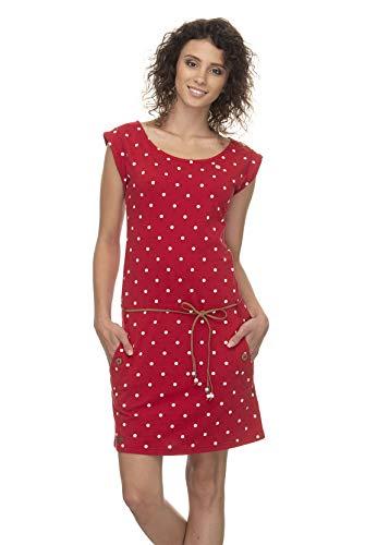 Ragwear  Damen Tag Jerseykleid, S, Red