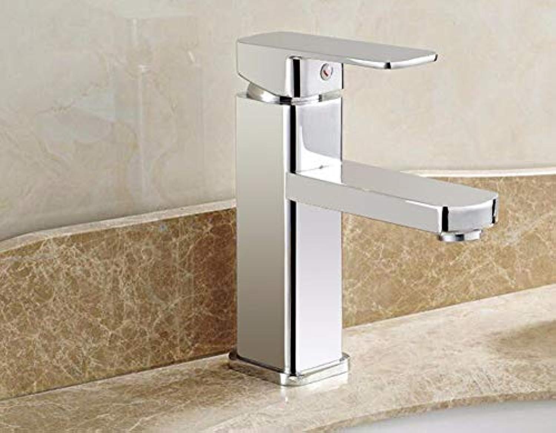 Waschbecken Wasserhahn Einhand-Kupfer-Becken Hei und kalt Einloch
