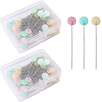 100x Patchwork Pin Flat Button Head Pins Quilting Tool Sewing Accessories Home