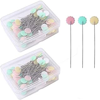 DIYASY 500 Pcs Colorful Sewing Pins,1.5 inch Straight Quilting Pins with Plastic Ball Head for Dressmaking with Box.