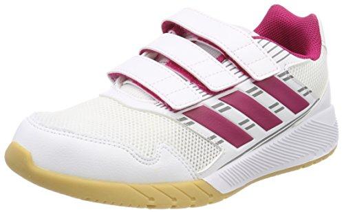 adidas Unisex-Kinder Altarun Fitnessschuhe, Weiß (Ftwbla/Rosfue/Grimed 000), 38 EU