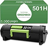 GREENBOX Compatible Toner Cartridge Replacement for Lexmark 501H for Lexmark MS310dn MS312dn MS315dn MS410dn MS415dn MS510dn MS610dn Printer (5,000 Pages High Yield, Black, 1-Pack)