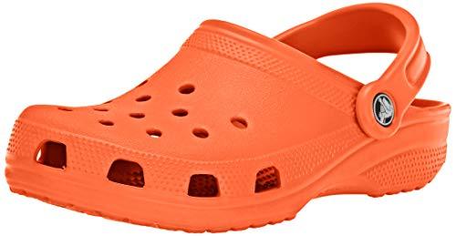 Crocs Classic, Zuecos Unisex Adulto, Naranja (Tangerine), 42/43 EU