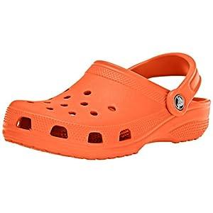 Crocs Women's Classic Clog | Comfortable Slip on Casual Water Shoe, Tangerine, 4 M US Men/6 M US Women