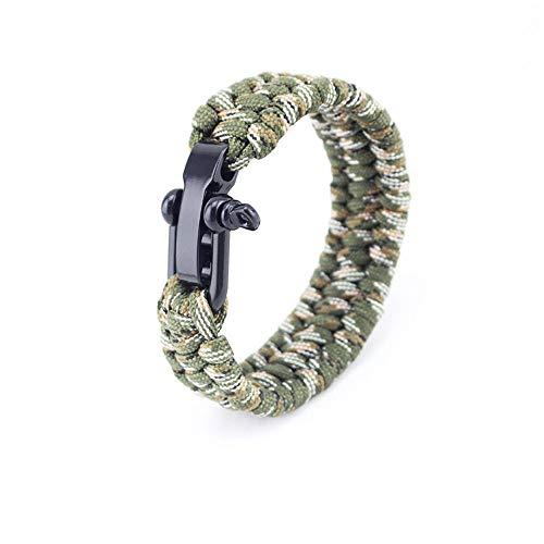 Armbänder Regenschirm Seil Geflochtenes Armband Outdoor Klettern Notfall Rettungs Armband, B