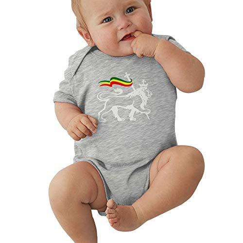 Rasta Lion of Judah1 Baby Boys Pijama Unisex Romper Baby Girls Body Infant Kawaii Jumpsuit Outfit 0-2t Niños,Gris,6 Meses