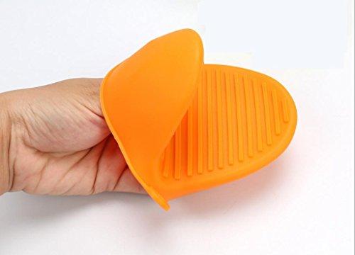 Dbtxwd Gel de silice cuisson outils Évitez de repasser des mitaines de four chaleur isolation isolant clip (pack de 4) , orange