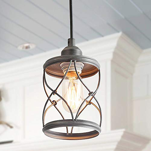 LALUZ Industrial Mini Pendant Lighting for Farmhouse Kitchen...