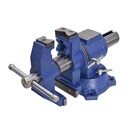 Multipurpose Vise Bench Vise Heavy Duty Multi-Jaw Vise 360-Degree Rotation Clamp on Vise with Swivel Base and Head for Clamping Fixing Equipment Home or Industrial Use (6 inch)