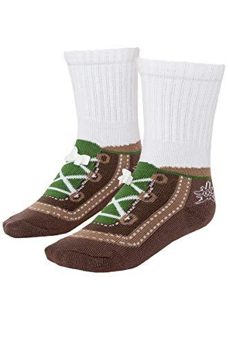 Mogo Baby - Jungen Baby Trachten Socken mit Edelweiß braun, BRAUN, XS