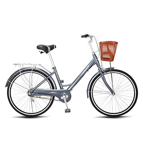 Axdwfd Infantiles Bicicletas Bicicleta de montaña, Marco de Acero de 24 Pulgadas, Cambio de Micro-Velocidad rotativo, Frenos de Disco