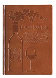 Romantic traditional 1st wedding anniversary gift idea wine journal