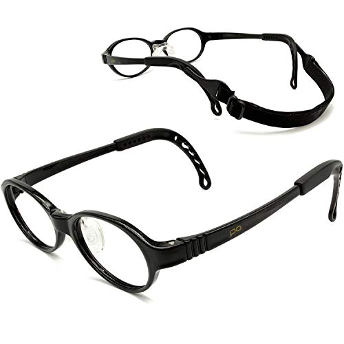 Tempo Perfect Fit: 200111 Adjustable and Repairable Kids Glasses Age 2-3Yr | Black