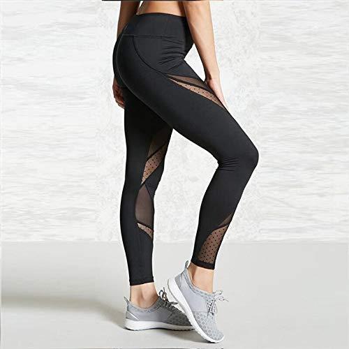 QINGJIA Moisture Wicking Pantalones de Cintura Alta de Yoga Gimnasio Sport Polainas Mujeres Ejercicios de Fitness Apretado Sportswear Running Leggins botín Scrunch Butt joging Damas Permeable al Aire