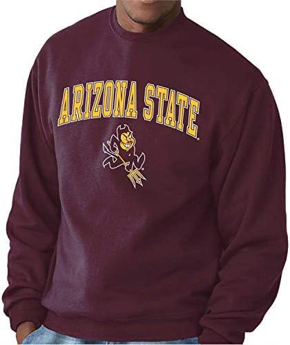 Campus Colors NCAA Adult Arch Logo Gameday Crewneck Sweatshirt Arizona State Sun Devils Maroon product image