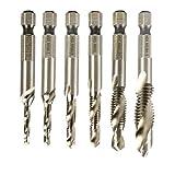 DierCosy Acero de Alta Velocidad Driller sólido Brocas Brocas Brad Point Set Metal Multi Madera Uso torcedura bits 1set