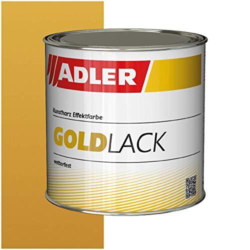 ADLER Goldlack für Holz & Metall - Innen & Außen - Seidenglänzender Gold Effekt - Umweltfreundlich, Wetterfest & Hitzebeständig mit starkem Rostschutz - 125ml