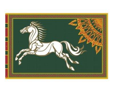 Rohan Banner Grüner Hintergrund Herr der Ringe (Rarität)
