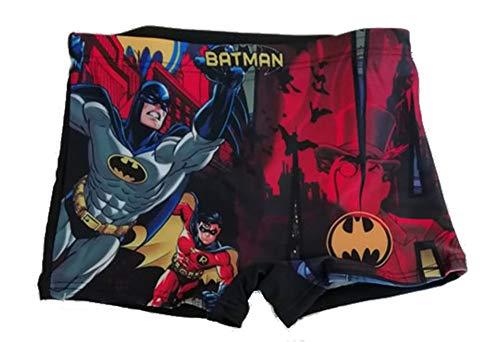 DC Batman Badeshort Badehose (122 (7 Jahre), Schwarz)