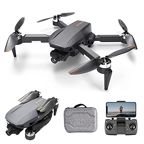 ZHAOJ FPV Drone with 4K UHD Camera Live Video and Brushless Motor, RC Quadcopter for Adults Beginners with GPS Return Home, Follow Me, 5G WiFi Transmission, Modular Battery Advanced Selfie