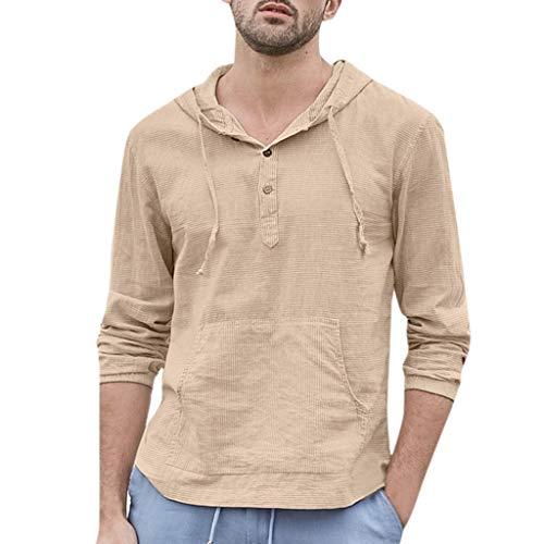 FRAUIT T-shirt Mannen Baggy gestreepte capuchon hemd retro T-shirt tops los ademend zacht comfortabel vrije tijd bovenstuk vrije tijd kleding blouse