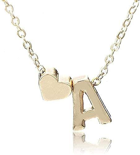 ZHIFUBA Co.,Ltd Collar Collar Inicial Collar con Nombre de Letra de Personalidad Colgante de Oro Regalo de joyería Muchos Collares de Regalo