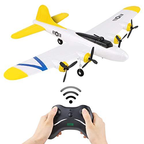 Makerfire RC Flugzeuge B17 2CH 2,4 GHz Fernbedienung RC Flugzeug Spielzeug Flugzeug Segelflugzeug EPP flugfertig Romote Control Flugzeug Outdoor-Spielzeug für Erwachsene und Kinder