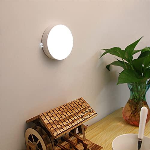 Wandskllss Sensor de luz nocturna 2 unidades USB recargable automático de inducción del cuerpo humano LED luz nocturna utilizada en el armario cabecera corredor dormitorio baño luz blanca