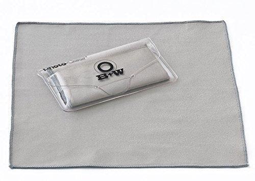 B+W Schneider Kreuznach Photo Clear Mikrofaser Reinigungstuch (2017) für Kamera Filter Brille Monitor Laptop Reinigung usw.