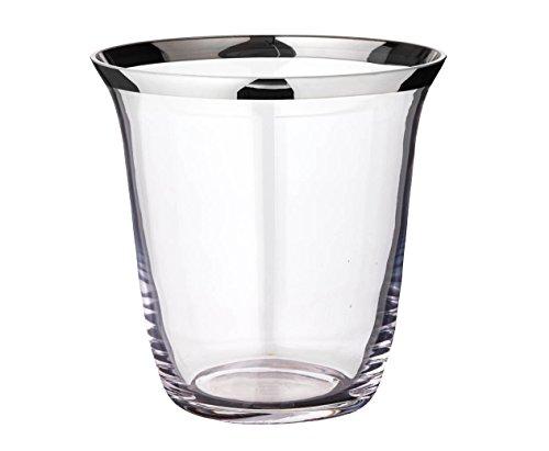 """EDZARD Flaschenkühler """"Toby"""" aus Kristallglas mit Platinrand, Durchmesser 22 cm, Höhe 23 cm"""
