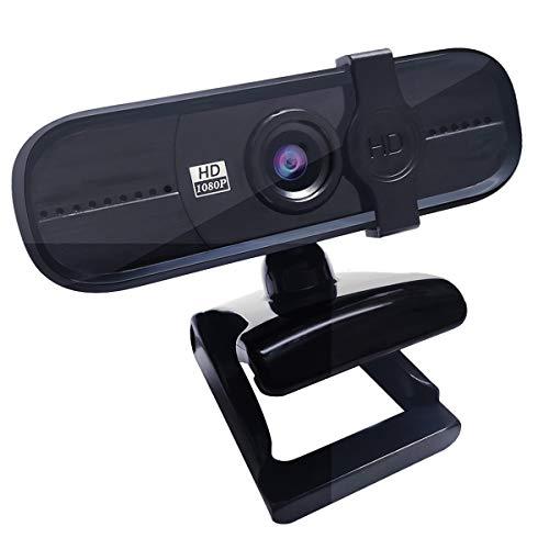 Guo duo Webcam HD 1080P con Micrófono, Cámara Ordenador con Cubierta,Cámara para Ordenador,para Computadora Portátil, PC, Escritorio, Videollamada, Conferencia, Clase en Línea,Juego