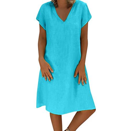 Vestidos Mujer NuevoFaldas Verano Estilo Reducción de Precio Femenino Camiseta Algodón Casual Talla Extra Señoras