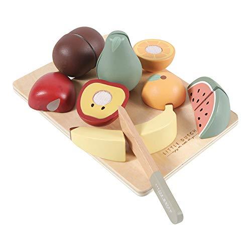 Little Dutch 4485 Holz Früchte Obst zum schneiden