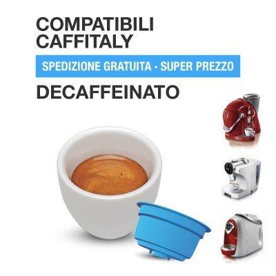 CAFFITALY Cápsulas de café compatibles mezcla descafeinada 60