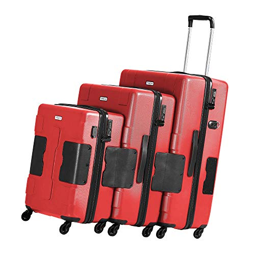 Why Should You Buy TACH V3 3-Piece Hardcase Connectable Luggage & Carryon Travel Bag Set | Rolling S...