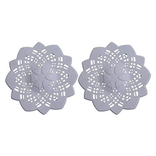 Sanmen 2 PC-Blumen-Haar-Catcher Badewanne Abfluss Badezimmer Dusche Sieb Spülbecken Abdeckung sink mats schwarz (Color : Light Grey)