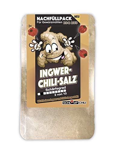 Schlump-Chili⎥ICHISA⎥Ingwer Chili Salz Probierpack mit Meersalz, Habanero-Chilis und Ginger (1x 20 g)