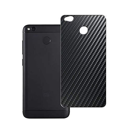 Vaxson 2 Unidades Protector de pantalla Posterior, compatible con Xiaomi Redmi 4X / Xiaomi Hongmi 4X, Película Protectora Espalda Skin Cover - Fibra de Carbono Negro